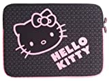 Lazerbuilt LSHK-PC-PNK1-15-BC Hello Kitty Laptop Sleeve 15.4-inch- Black and Pink