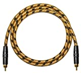Gold Plated RCA to RCA. 60s Style Vintage Sommer Classique SC Instruent Cable (1m, Vintage)