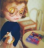 ブライス ドール や 1/3 ドール 用 レトロ 丸 メガネ 選べる カラー (シルバー)