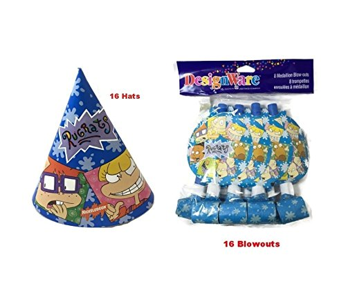 Rugrast Blowouts & Hats Party Set-Pack of 16 - 1