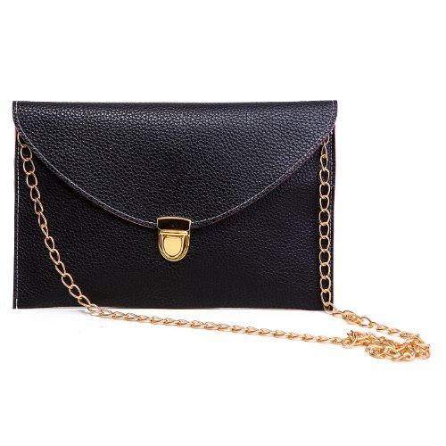 HDE-Fashion-Leather-Envelope-Clutch-with-Drop-in-Chain-Shoulder-Strap