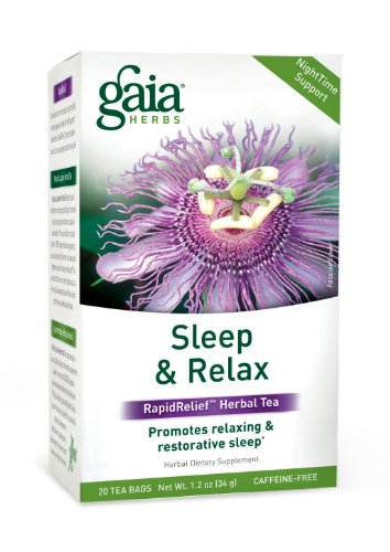 Gaia Herbs Sleep And Relax Herbal Tea, 1.20 Ounce (Pack Of 2)