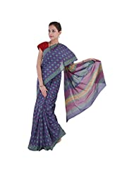 Aaradhya Bagru Hand Block Nep Top Print Cotton Saree For Women - B00TF0DRI8