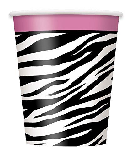 9oz Zebra Print Party Cups, 8ct