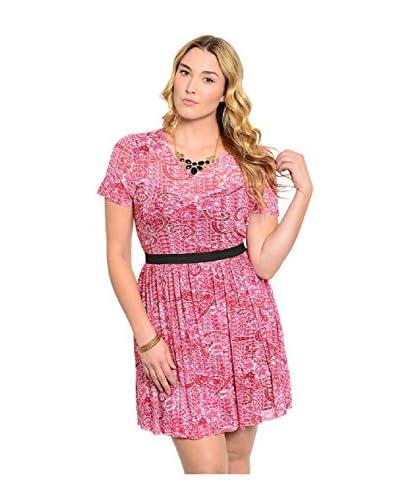 S.H.E. Plus Women's Pleated Skirt Dress