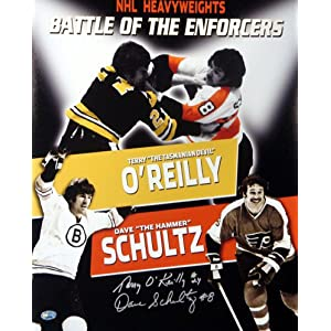 Terryreilly on Amazon Com  Terry O Reilly   Dave Schultz Autographed 16x20 Photo Psa