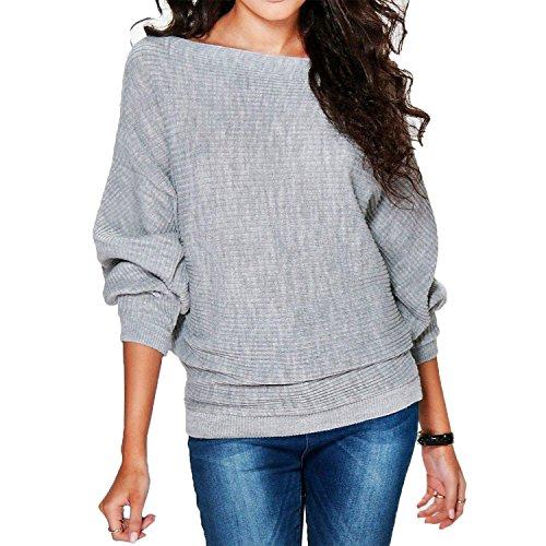 damen pullover mode volltonfarbe rundhals sweater lose. Black Bedroom Furniture Sets. Home Design Ideas