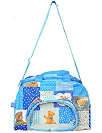 Kuber Industries™ Mama's Bag, Baby Carrier Bag, Diaper Bag, Travelling Bag (Sky Blue) - KUB386