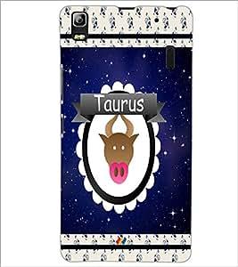 PrintDhaba Zodiac Taurus D-2765 Back Case Cover for LENOVO K3 NOTE (Multi-Coloured)
