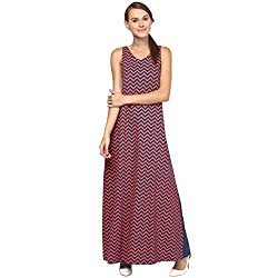 Annapoliss Women's Maxi Dress (ANWDR13_Multi Color_X-Small)