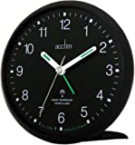 Acctim 71453 Yale Alarm Clock, Black, Radio Controlled