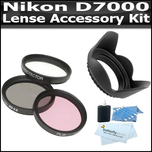 67mm Lens Accessory Kit Compatible With The Nikon D7000 Includes 67mm 3pc High Resolution Multi Coated Filter Kit + 67mm Lens Hood + Lens Pen Cleaning Kit
