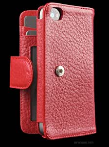 Amazon.com: SENA Walletbook case for iPhone 4/4S Red: MP3 ...