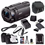 Sony FDR-AX33 4K Ultra HD Handycam Camcorder + NP-FV70 Battery + External Charger + 64GB SDXC Card + Case + Card Reader + Card Wallet Saver Bundle