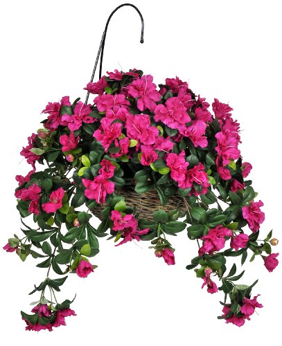 How To Make A Hanging Basket Flowers : Beautiful artificial hanging flower baskets autumn home