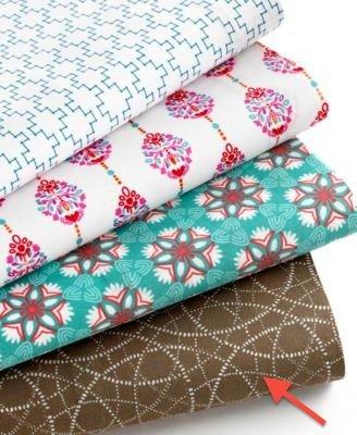 Bar Iii Full Sheet Set Brown Swirls 220 Thread Count Cotton front-171539