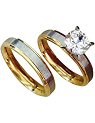 Couple Rings For Couples Ring For Love Engagement 19 Likes Wedding Gifts Ring Sets Men WomenALRG0299GO9