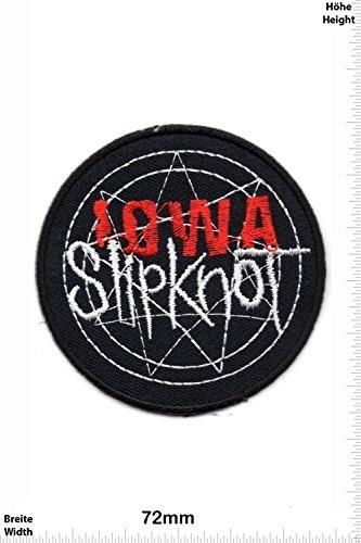 Patch - Slipknot IOWA - MusicPatch - Rock - Chaleco - toppa - applicazione - Ricamato termo-adesivo - Give Away