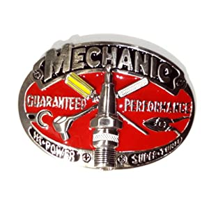 Mechanic Belt Buckle Gear Head Gift