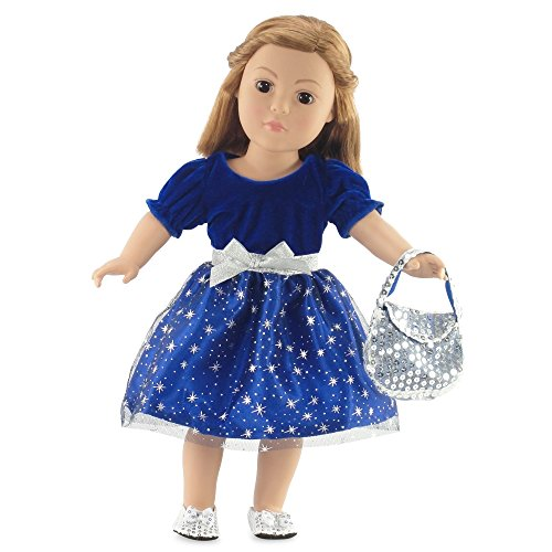 18 Inch Doll Clothes | Midnight Star Christmas Dress Outfit | Fits 18