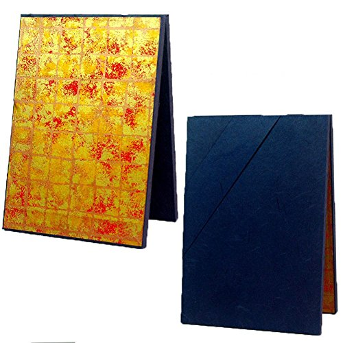 [Edo-Japan Traditional Crafts] High-Quality Made in Japan Edo Hyougu Trick Mini Folding Screen Golden Red