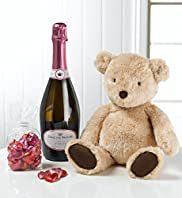 Rosé Bubbles, Teddy & Chocolates Gift