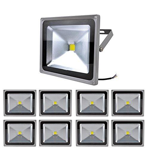 9X 50W Smd Led Floodlight Flood Light Spotlight Ip65 Cool White High Power Long Life Headlight