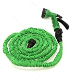 25FT Expandable Flexible Garden Car Washing Water Hose Pipe #S Spray Nozzle Gun