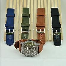 buy Vale® [4 Pcs] Nylon 20Mm Watch Strap Wristwatch Band Divers Mens