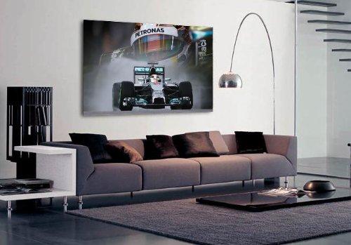 Lewis hamilton grand format 76 x 51 cm cadre toile tableau - Cadre photo grand format ikea ...