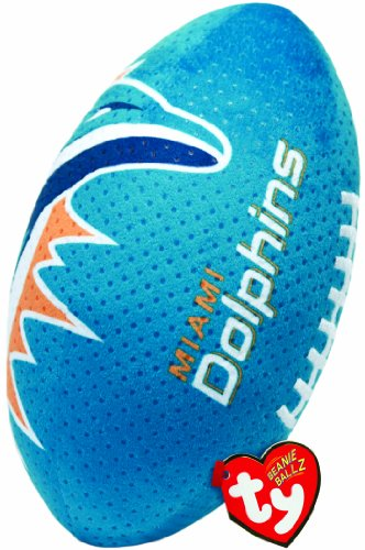 Ty Beanie Ballz NFL RZ Miami Dolphins Football Plush