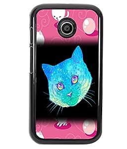Fuson 2D Printed Cat Designer back case cover for Motorola Moto E - D4523
