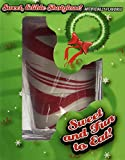 Peppermint Flavored Candy Cane Edible Shot Glass 1 Count