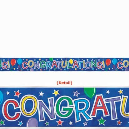 Balloon Congratulations Banner 15ft
