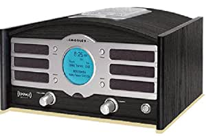 Crosley Radio Two-In-One Retro Portable Clock Radio Explorer 1 in Black