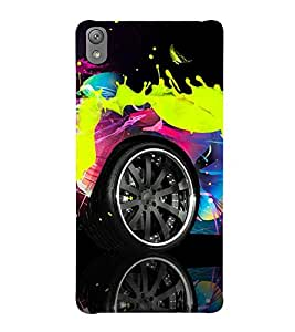 AUTOMOBILE PAINTED WITH SPLASHING FLUIDIC PAINT 3D Hard Polycarbonate Designer Back Case Cover for Sony Xperia E5