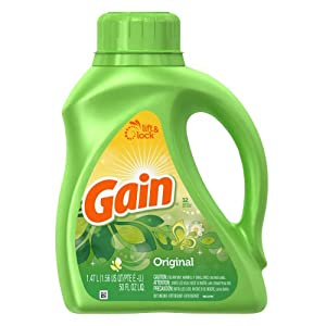 Gain With Freshlock Original Liquid Detergent 32 Loads 50 Fl Oz (Pack of 2)