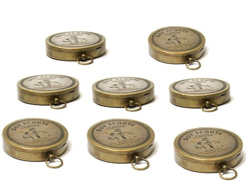 American Boy Scout Compass Antique Vintage Brass Compass 5