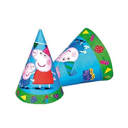 Peppa Pig Cone Party Hats (6 Pack) - 1