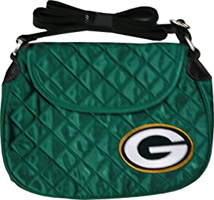 NFL Green Bay Packers Quilted Saddlebag, Green
