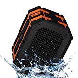 Mpow Armor Portable Bluetooth Speaker,5W Strong Drive/Passive Radiator for Waterproof Shockproof and Dustproof Outdoor/Shower/MP3/PC Speakers with Emergency Power Surpply