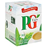 PG Tips Black Tea, Pyramid Tea Bag, 80-Count Box