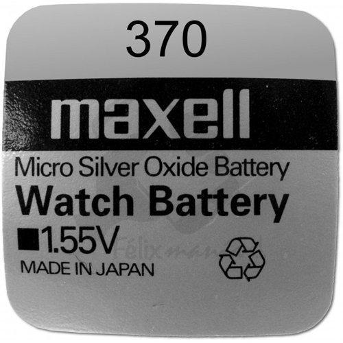 Batterie Originale 1 X Pile Maxell 370 SR0920W 1,55 V Boutons Pile Oxyde D'argent Maxell Livraison 48/72H Felixmania®