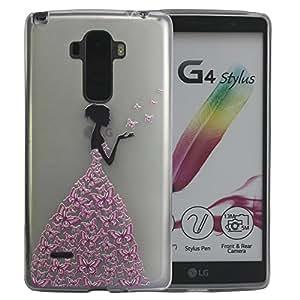 LG G Stylo Case, Harryshell(TM) Transparent Clear Matte Girl Pattern Slim Tpu Gel Flexible Case Cover for LG G Stylo LS770