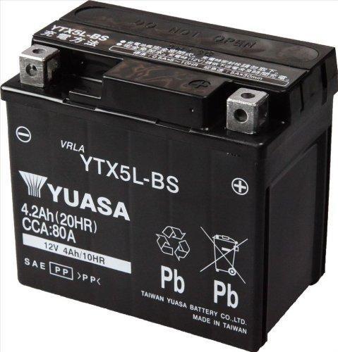 【スペイシー100】バッテリ交換用に「YTX5L-BS」購入