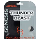Genesis 660-Feet Blizzard Synthetic Gut Tennis Racket Reel Set, White, 16L 1.30mm by Genesis