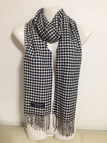 100-cashmere-scarf-houndstooth-design-black-white-made-in-scotland-super-soft
