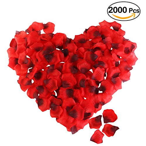 Red Artificial Flower Silk Rose Petals