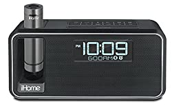 iHome IKN105BC Dual Charging Bluetooth Stereo Alarm Clock Radio or Speakerphone (Black) with NFC, Removable Power