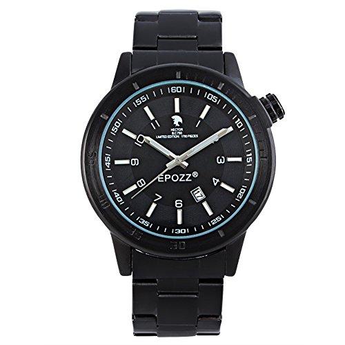 EPOZZ Men Digital Japan Movement Sports Waterproof Quartz Watch black white (Aviator Watch Belt compare prices)
